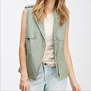 Green Utility Army Vest